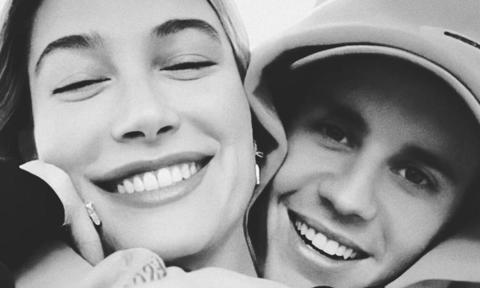 Justin Bieber applied makeup to wife Hailey during an episode of their Facebook Watch series