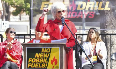 Jane Fonda And Greenpeace USA Bring Fire Drill Fridays To California