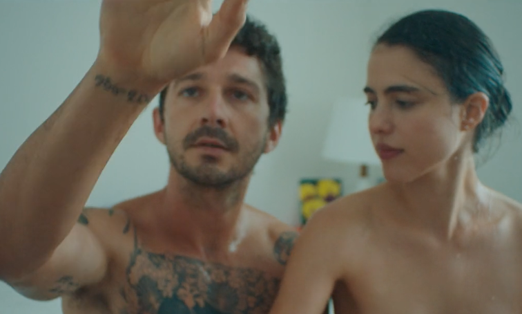 Shia LaBeouf and Margaret Qualley go fully nude in moving new short film