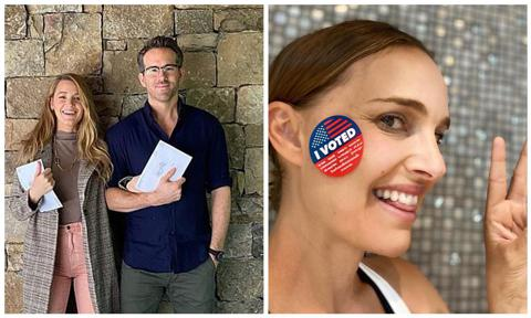 This is my first time voting in America. I'd like to thank my wife Blake for making my first time so gentle and loving