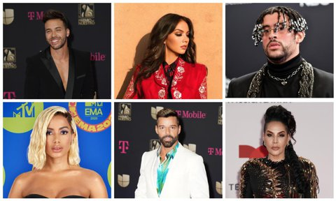 Prince Royce, Lupita Infante, Bad Bunny, Anitta, Ricky Martin, Ivy Queen