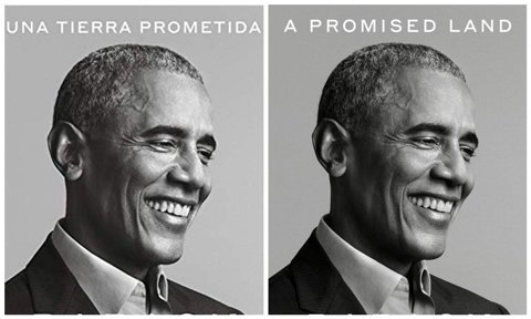 Covers of Barack Obama's new book