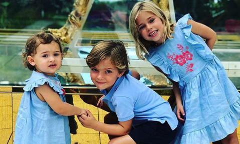 Princess Madeleine's three kids star in new holiday photo