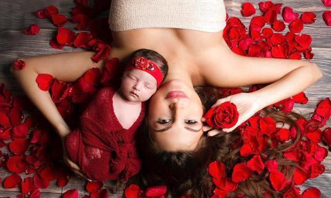 Melany Mille y su hija