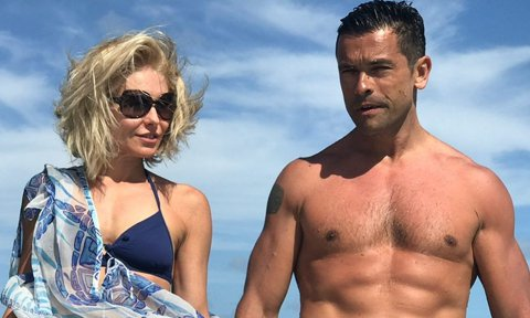 Kelly Ripa and Mark Consuelos in bathing suits