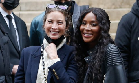 Naomi Campbell and Christy Turlington in Paris
