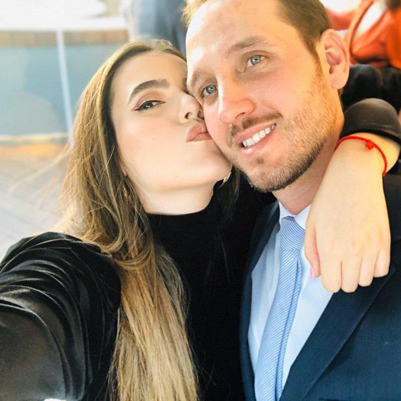 Camila Fernández y su esposo
