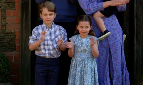 Royal fans spot previously unseen photo of George and Charlotte in Kate Middleton's latest call