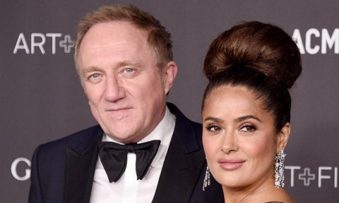 Salma Hayek and François-Henri Pinault at the 2019 LACMA Art + Film Gala Presented By Gucci - Arrivals