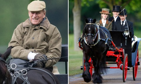Philip was one proud grandfather as he watched his youngest granddaughter, Lady Louise Windsor, compete in the Private Driving Class during the 2019 Royal Windsor Horse Show.