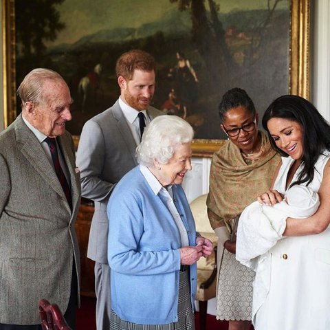 Philip met grandson Prince Harry and Meghan Markle's son Archie Harrison for the first time at Windsor Castle in 2019.