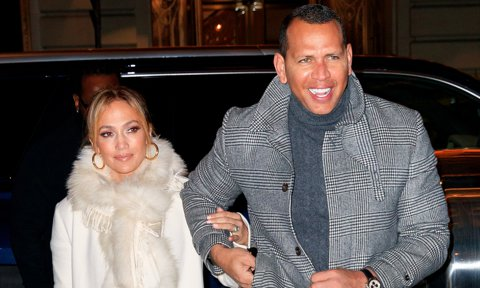 Jennifer Lopez with Alex Rodriguez