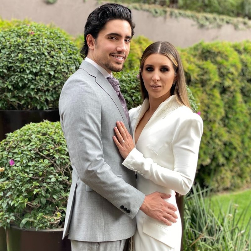Alejandro Fernández Jr. and his wife, Alexia Hernández