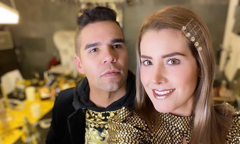Emir Pabon and his wife, Stefanía de Aranda