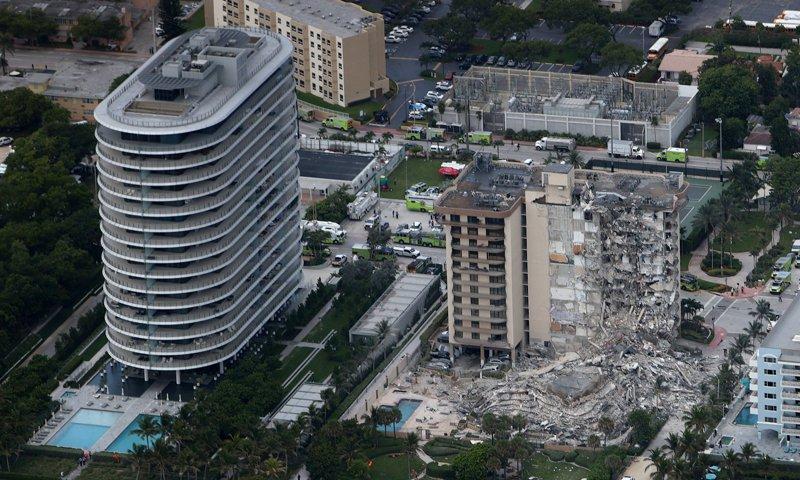 Building collapse in Miami Beach