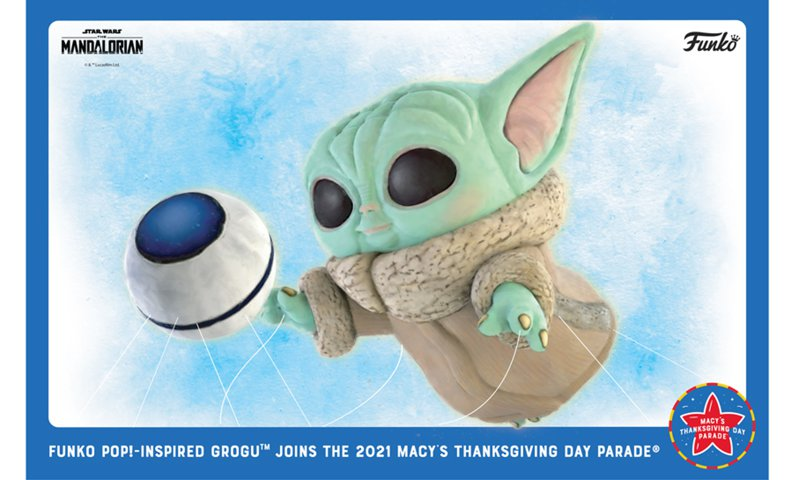 A Grogu-inspired balloon will make its debut at the 2021 Macy's Thanksgiving Day Parade