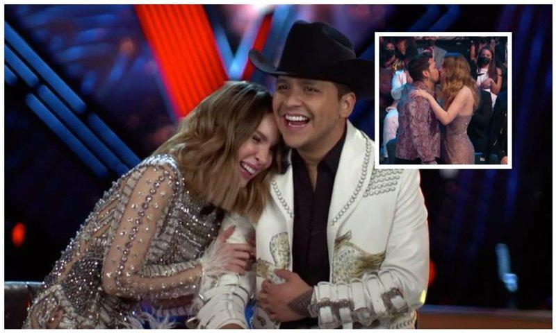Belinda celebra con Christian Nodal su triunfo en los Latin Billboard